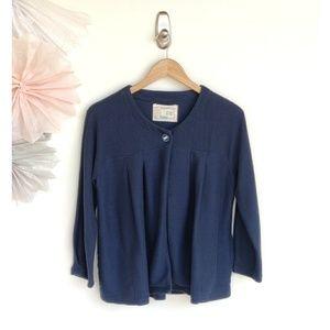 Anthro Saturday Sunday Blue Finley Cardigan Jacket